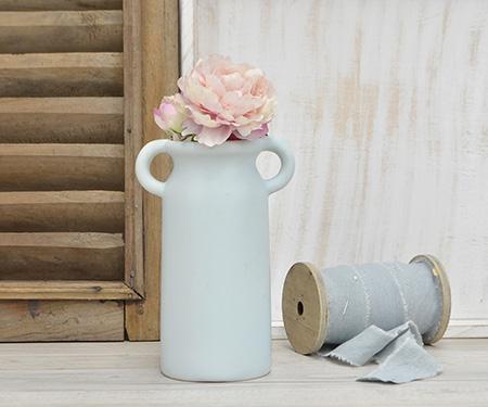 Powder Blue Vase With Handles