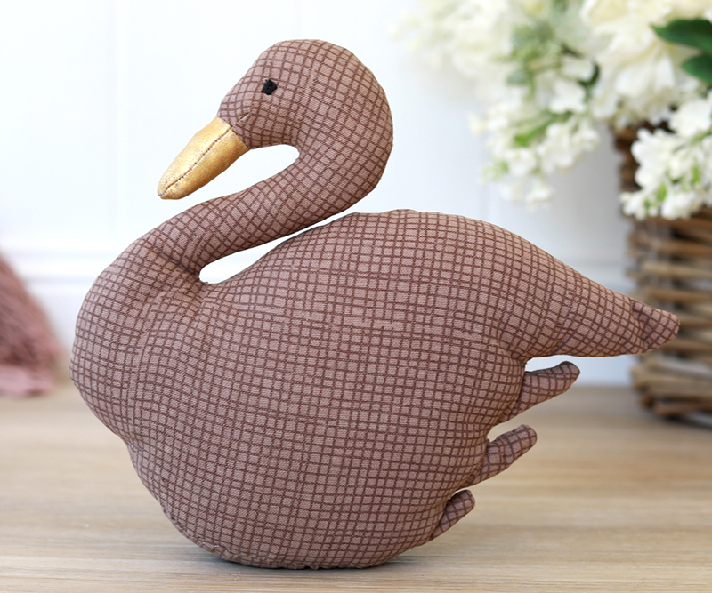 & Swan Doorstop Dusty Rose Pink