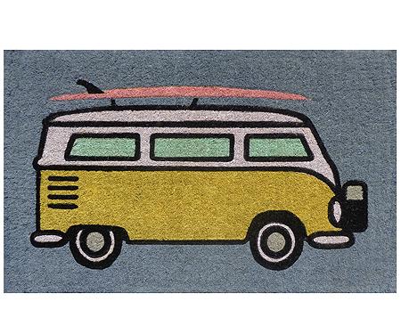 Yellow Kombi Van Doormat