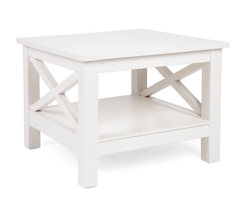 Somerville White Cross Side Table