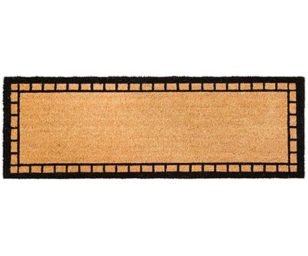 Tradi Black Border Long Doormat