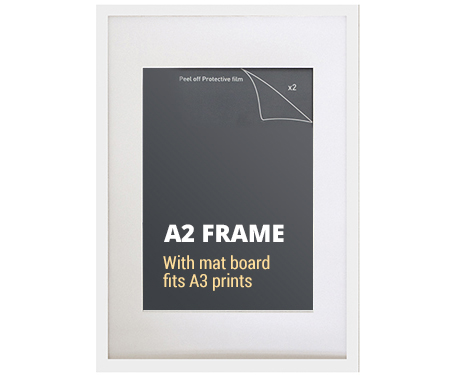 A2 White Picture Frame