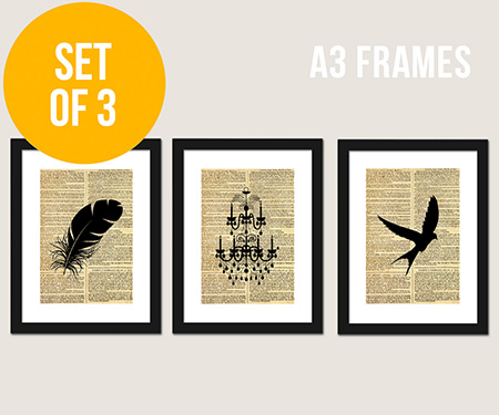 Vintage style wall art and framed prints