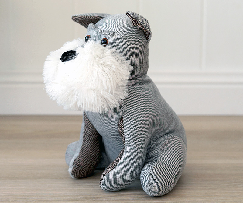 Rufus Grey Dog Doorstop