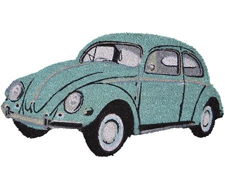 VW Beetle Doormat - Aqua Green