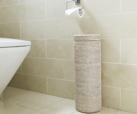 Rattan toilet roll holder for Storage for toilet rolls