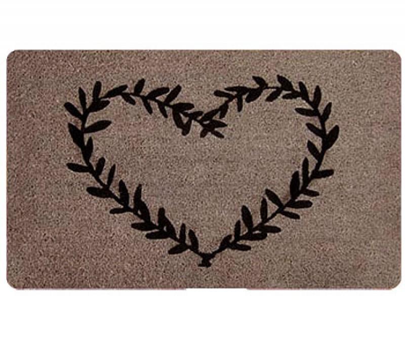 Heart Wreath Designer Door Mat