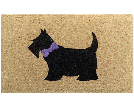 Black Scotty Dog Regular Doormat