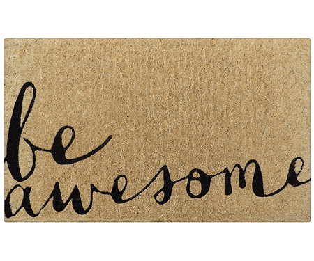 Be Awesome Coir Doormat