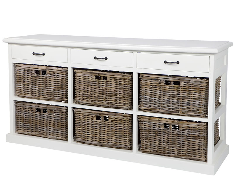 Chiswick 6-Drawer Buffet with Baskets