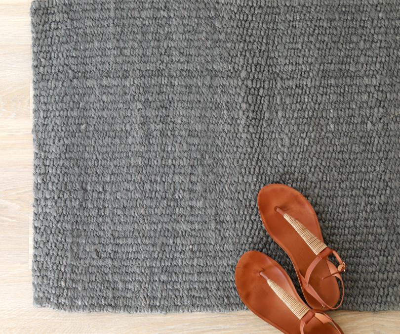 Montana PLAIN French Grey Jute Indoor Mat