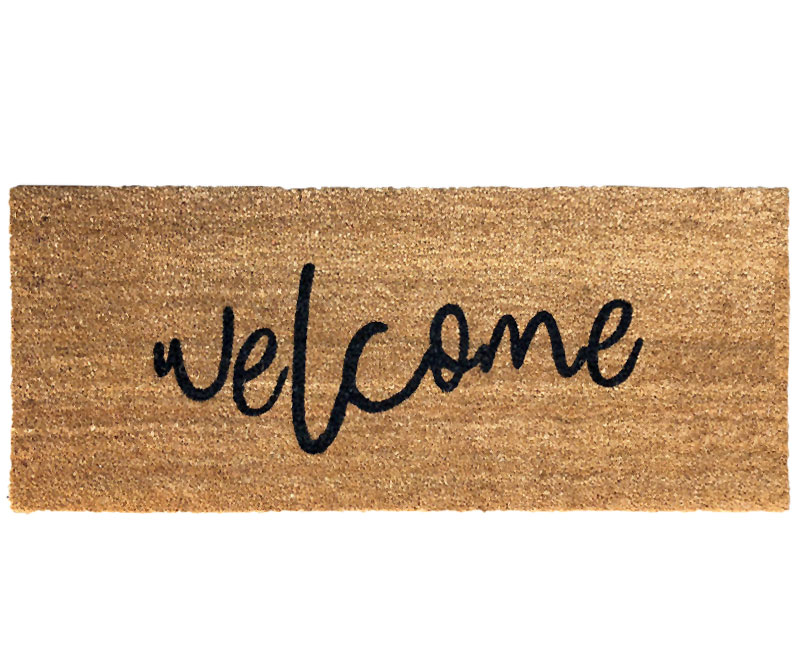 Welcome Long Doormat PVC Backed