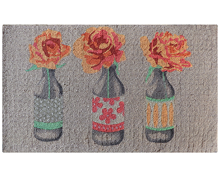Orange Roses in Bottles Regular Doormat