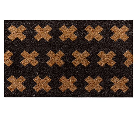 Cross Stitch Doormat Black PVC Backed