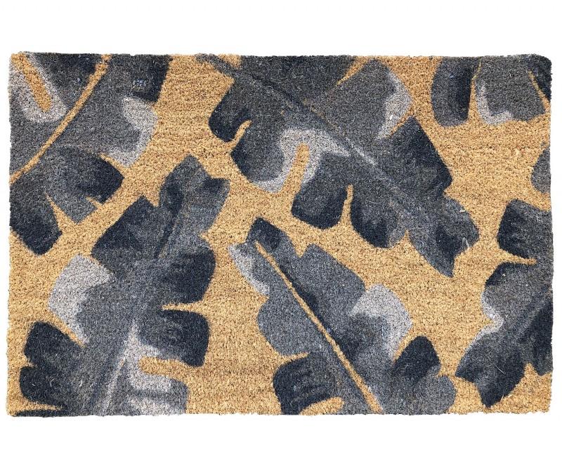 Banana Leaf Grey Doormat