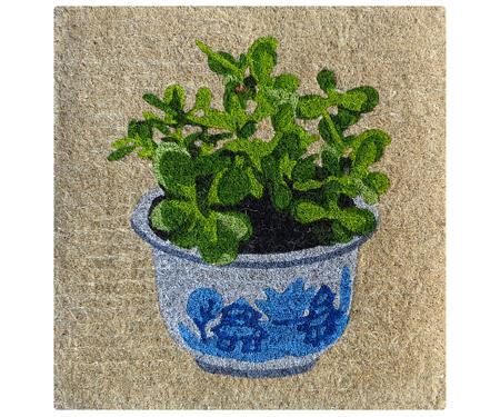China Pot Plant Square 100% Coir Doormat