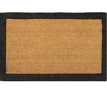 XL Black Border Coir Doormat