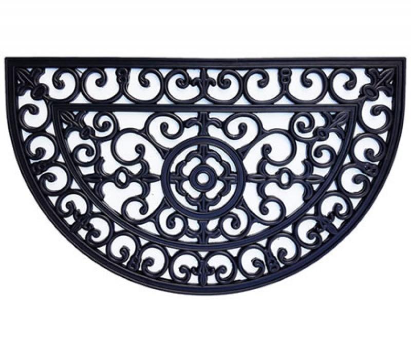 Large Semi-Circle Brooklyn Rubber Doormat - 90x55cm