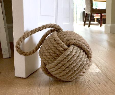 rope door stop how to make