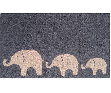 Elephants Grey Doormat Home Accessories And Homewares