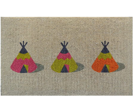 Teepees 100% Coir Regular Doormat