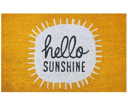 Hello Sunshine Yellow Coir Doormat Doormats Large And