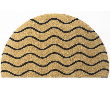 Wavy Half-Round Large Doormat
