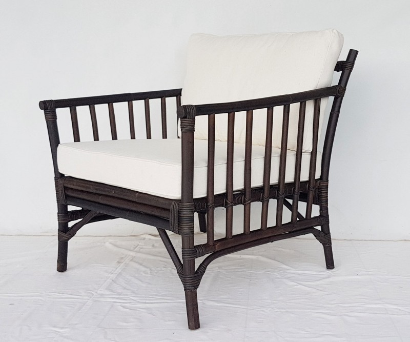 Montego Rattan Armchair - Brown