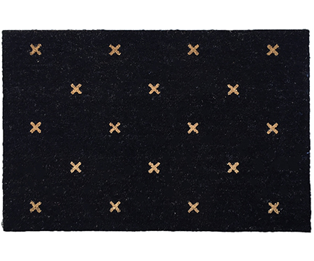 Night Sky Crosses Large Vinyl Backed Doormat