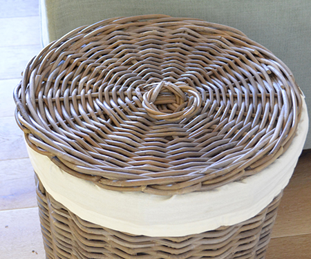 round rattan laundry basket with lid large. Black Bedroom Furniture Sets. Home Design Ideas