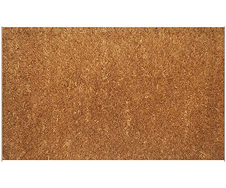 Plain Coir Doormat Brown - Regular