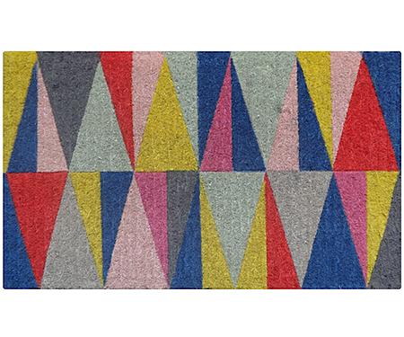 Harlequin Triangles Regular Doormat