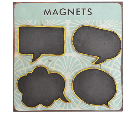 Speech Bubble Blackboard Magnets