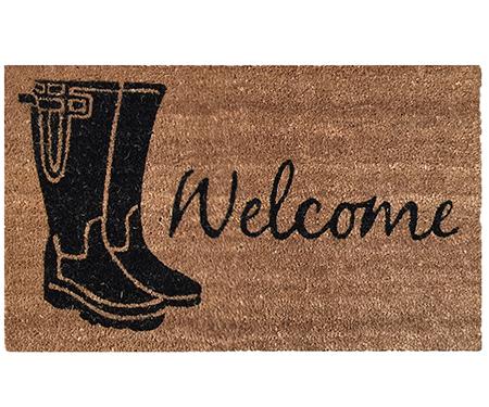 Gumboot Welcome Vinyl Backed Doormat