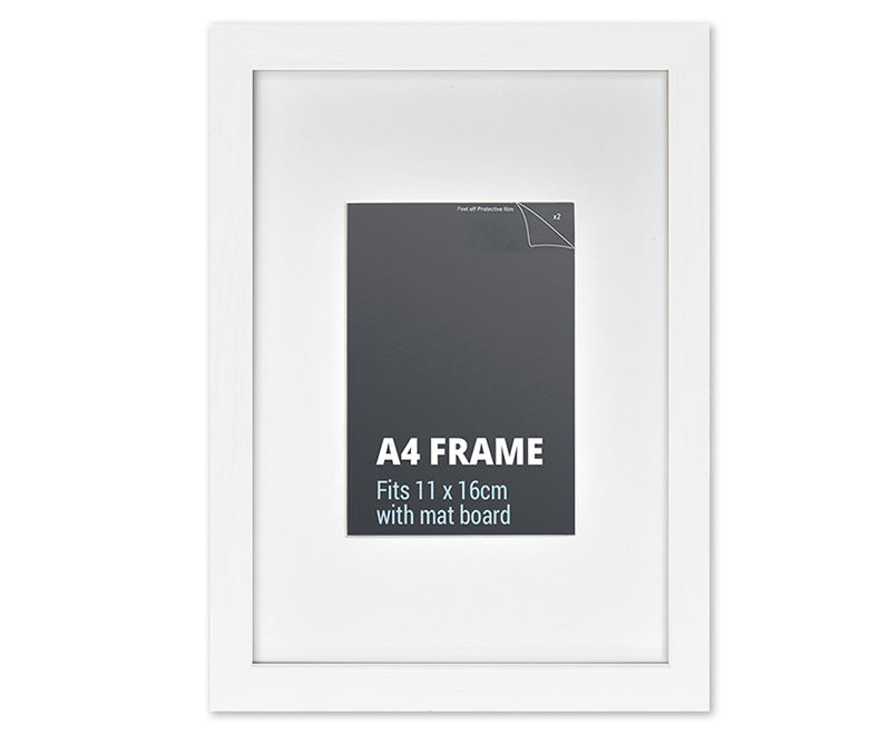 A4 White Picture Frame