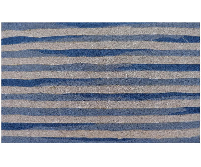 Blue Watercolour Stripes 100% Coir Doormat
