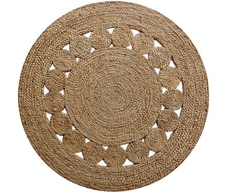 Jute Circle Pattern Plaited Rug