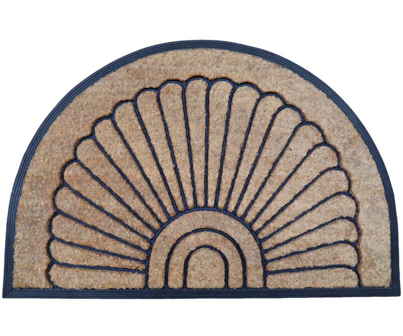 Melton Fan Coir & Rubber Half Round Doormat