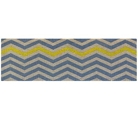 Yellow Chevron Long Doormat