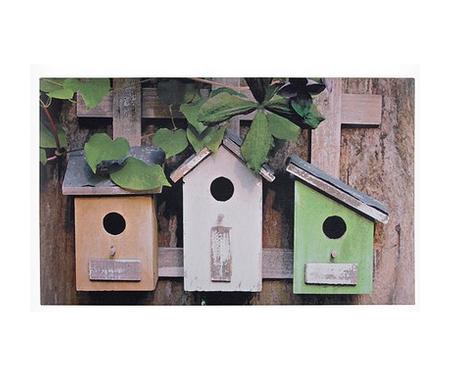 Bird Houses Rubber Door Mat