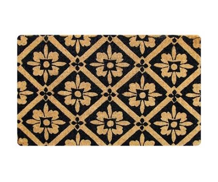 Black Tile Pattern - Regular Door Mat