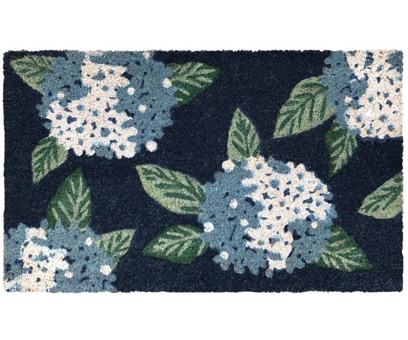 Hydrangea Indigo & White Doormat