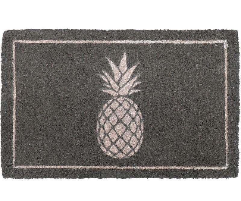 Westport Grey Pineapple Doormat - 100% Coir