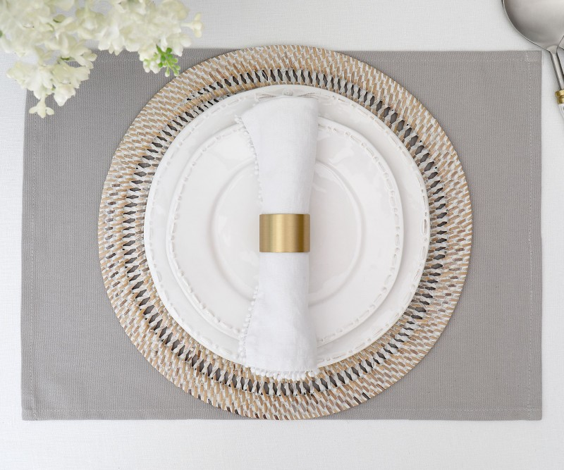 Ivory Macrame Table Placemats
