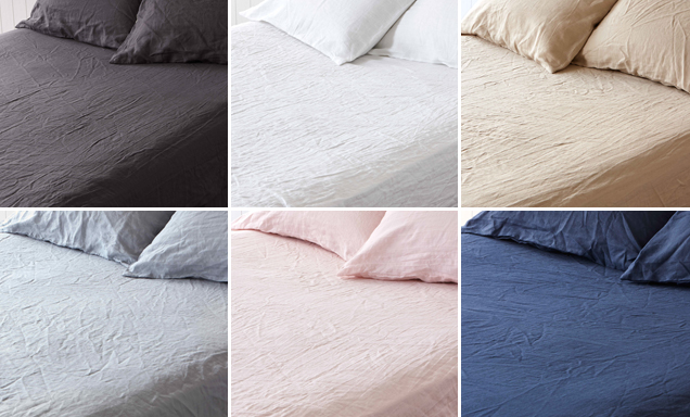 Pure linen sheets by Montauk linen