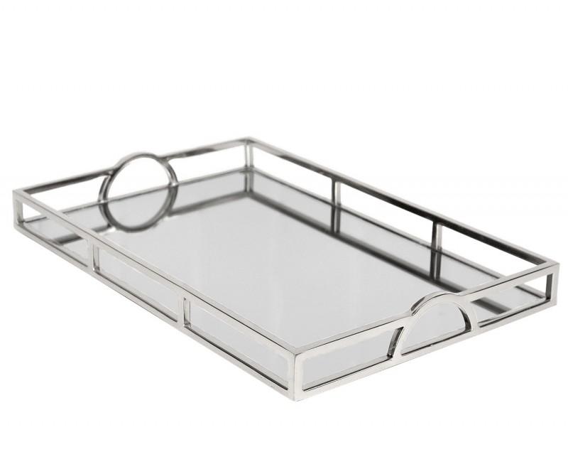Arlington Silver Mirror Tray Large, Silver Mirror Tray Rectangle