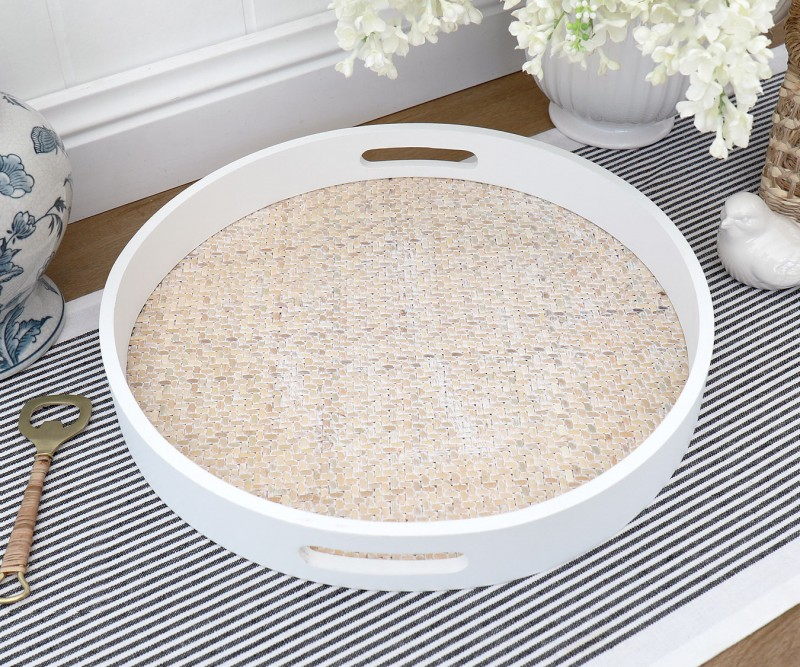 Trays Rattan Butlers Ottoman And More