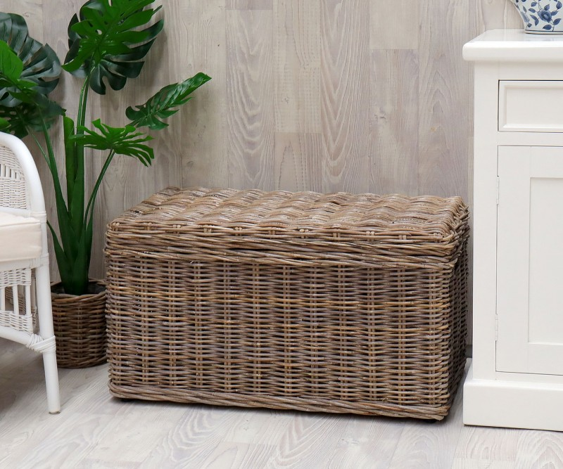 Oliver Rattan Storage Trunk Blanket, Wicker Storage Trunks And Chests